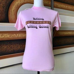 Vintage '80s CHOCOHOLICS Pink T-Shirt Adult Small